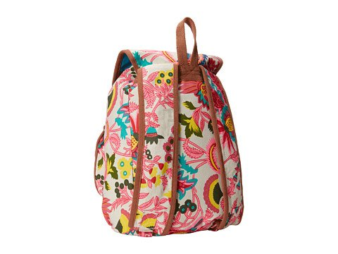 Steve Madden Bdezi Floral Printed Canvas Backpack – White