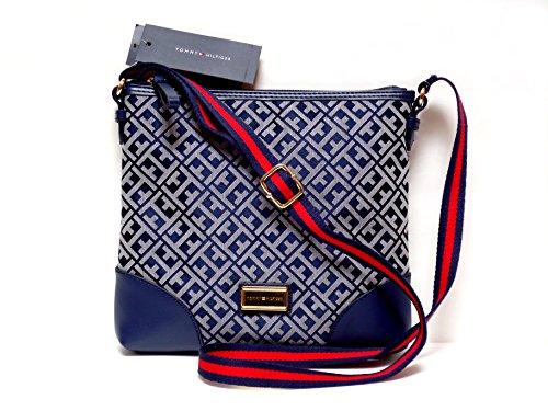 Tommy Hilfiger Crossbody Handbag Signature Jacquard Purse (Med)