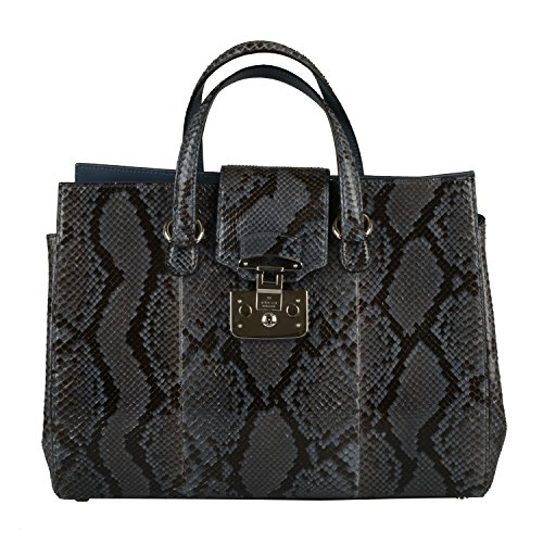Gucci Women's Caspian Blue Python Skin Handbag Shoulder Bag