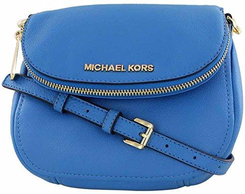 Michael Kors Beford Leather Flap Crossbody Bag Purse Blue