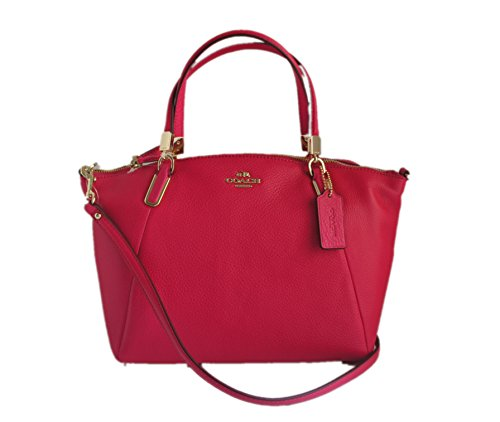Coach Pebble Leather Small Kelsey Satchel 34493 Pink Ruby