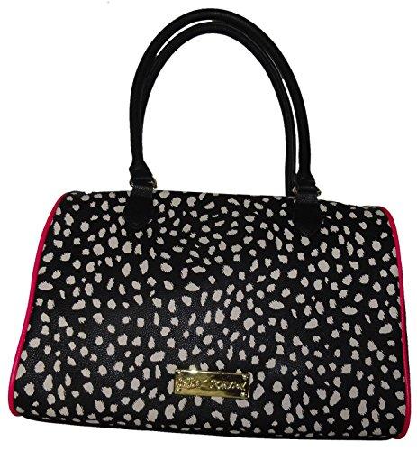 "Betsey Johnson Women's Large ""Jungle-licious"" Satchel Handbag , Black Multi"