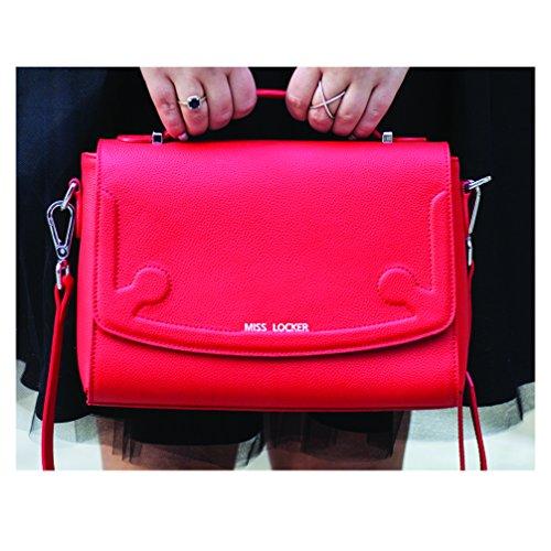 Miss Locker® Red Cross Body Bag – Handbags – Cute Leather Strap Messenger Shoulder Purse Wristlet Clutch