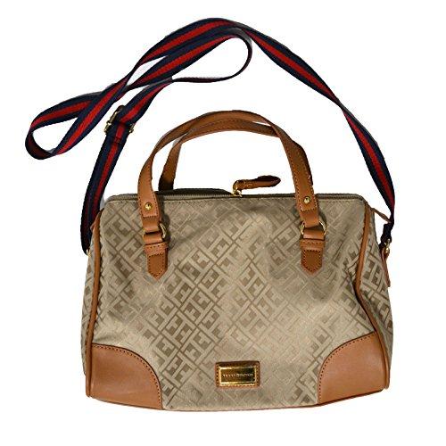 Tommy Hilfiger Convertible Satchel Handbag Beige