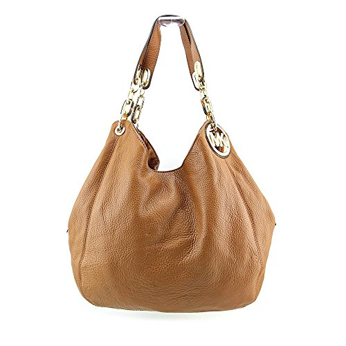 Michael Kors Fulton Women's North South Handbag Shoulder Bag Brown