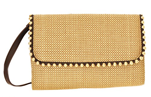 BIG BUDDHA Golda Clutch Cross Body Bag, Linen, One Size