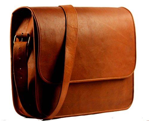 B & H Genuine Leather Messenger Bag 15″ Laptop Bag Leather Satchel Briefcase Bag.