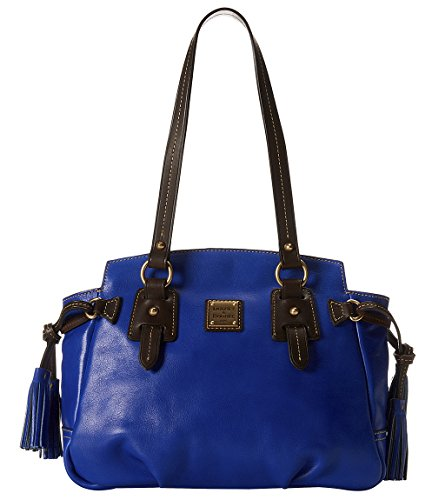 Dooney & Bourke Women's Toledo New Colors Winged Small Shopper Royal Blue w/ T'Moro Trim