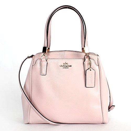 Coach 34663 Crossgrain Leather Minetta Crossbody Bag Neutral Pink