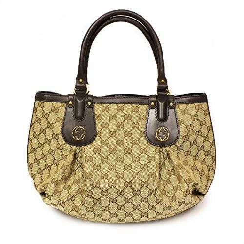 Gucci 269953 Gucci Scarlett Stud Interlocking Gg Hobo Brown Leather