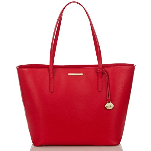 NEW AUTHENTIC BRAHMIN AVENUE SAFFIANO LEATHER TOTE (Red Bond Street)
