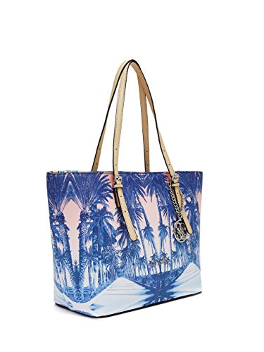 GUESS Women's Delaney Palm Tree Small Classic Tote