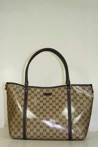 Gucci Handbags Crystal (Coating) Beige and Brown Leather 265695