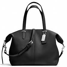 Coach Bleeker Cooper Pebble Lthr Satchel- SV/BLK