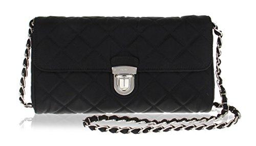 Prada BP0584 Nero Tessuto Black Quilted Nyon Chain Shoulder Bag