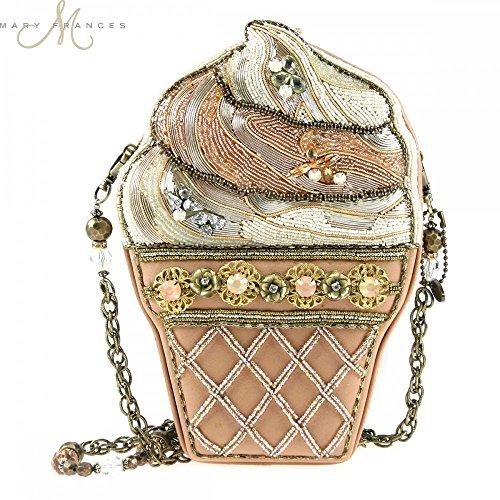 Mary Frances Solid Gold Beaded Handbag #1489