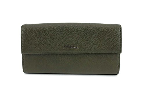 Furla Classic Leather Large Wallet in Army Green