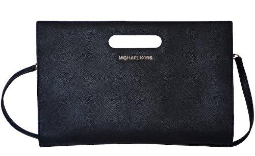 Michael Kors Saffiano Leather Tilda Clutch Handbag Bag Purse