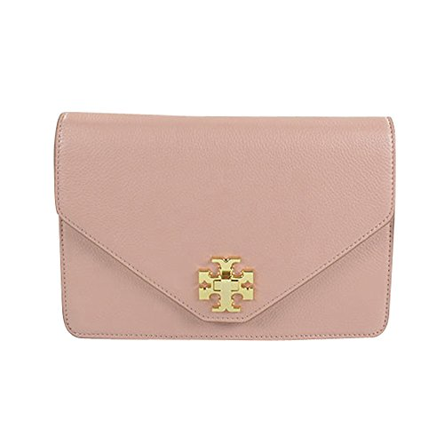 Tory Burch Kira Envelope Clutch Cross Body Chain Shoulder Bag Indian Rose Champagne Gold