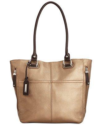 Tignanello Perfect Pockets Medium Tote Brown Metallic