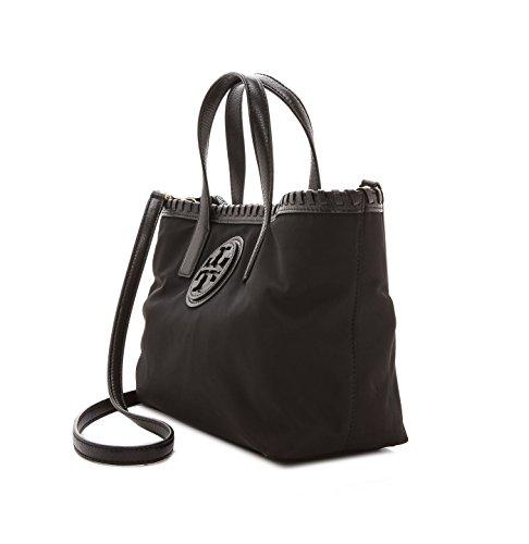 Tory Burch Marion Nylon East West Small Tote Black Handbag