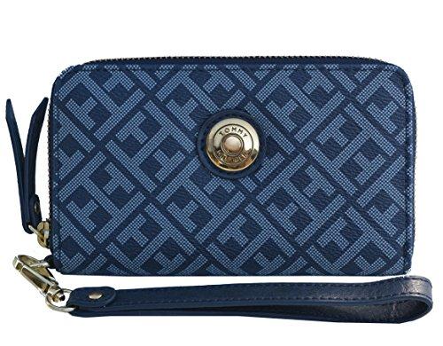 Tommy Hilfiger Signature Canvas Wristlet Bag Handbag Purse