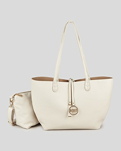 Bcbg Reversible Tote with Matching Convertible Bag Off White/beige