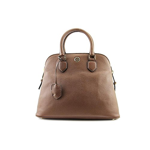 Tory Burch Robinson Pebbled Womens Leather Brown Satchel