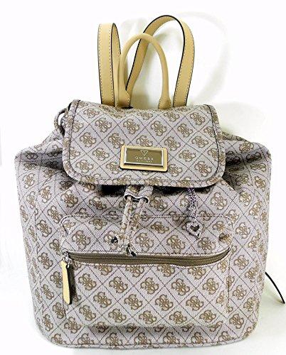 GUESS Handbag, Monogram Signature Logo Irma Backpack