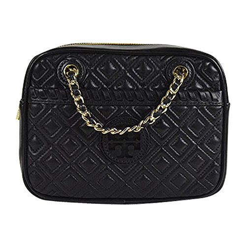 Tory Burch Marion Quilted Chain Shoulder Crossbody Bag Black