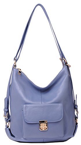 Heshe 2015 New Top Layer Soft Leather Backpack Shoulder Travelling Bag Handbag