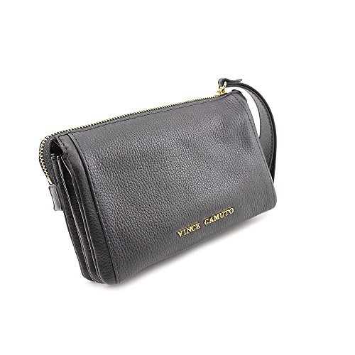 Vince Camuto Billy Womens Black Wallet Leather Wristlet