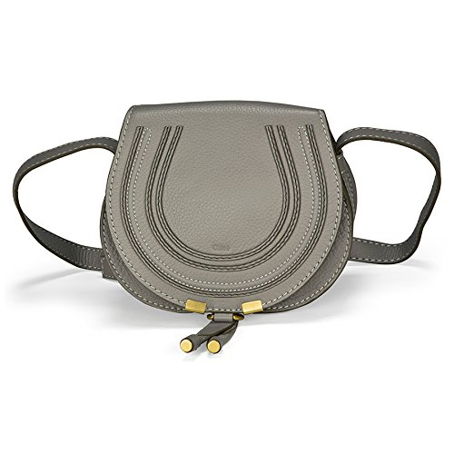 Chloe Marcie Small Leather Handbag – Cashmere Grey