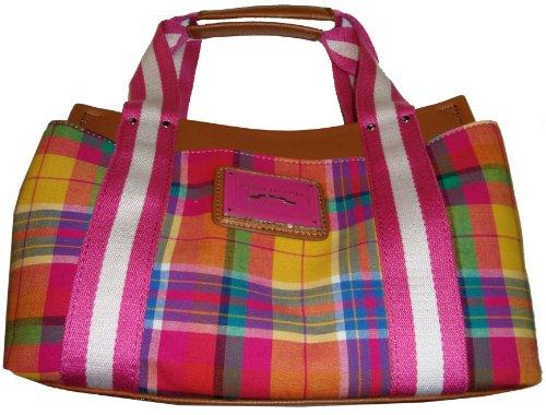 Tommy Hilfiger Women's Small Iconic Handbag, Pink Plaid