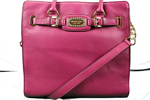 Michael Kors Hamilton Jewel Large NS Tote in Deep Pink