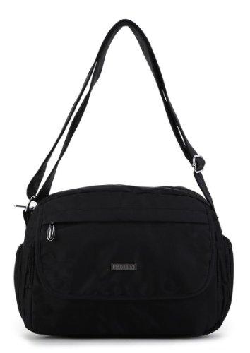 Scarleton Flap Pocket Nylon Shoulder Bag H1496