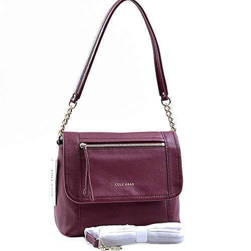COLE HAAN LONDYN CONVERTIBLE SHOULDER BAG Windsor Red $248