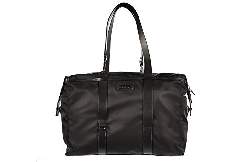 Salvatore Ferragamo travel duffle weekend shoulder bag black