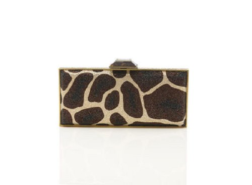 NEW Judith Leiber Karuri Pattern Crystal Minaudière Clutch-Retail $4995