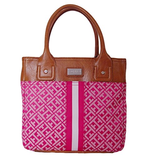 Tommy Hilfiger Small Tommy Tote Handbag Pink Multi