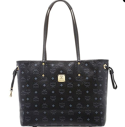 2014 AW Authentic MCM SHOPPER PROJECT Medium Size Reversible Shopper Bag Color Black MWP4AVI38BK