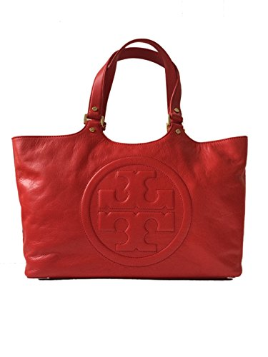 Tory Burch Bombe Burch Tory Red Leather Tote