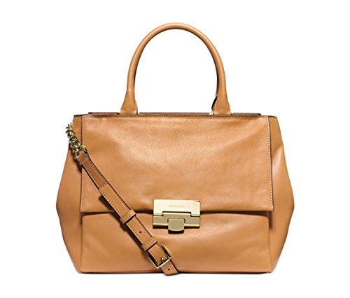 Michael Kors Karlie Large Satchel PEANUT/GOLD