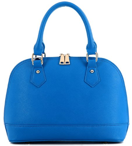 Heshe Women's Genuine Leather Candy Color Cross Body Shoulder Bag Satchel Handbag