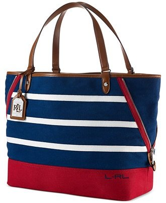Ralph Lauren Harboard Large Navy / White / Red Tote – TTE – CNV