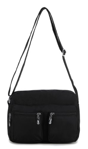 Scarleton Squared Nylon Shoulder Bag H1497