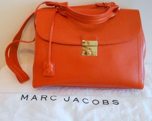 Marc Jacobs NEW Satchel the 1984leather Bag Handbag Purse Mandarin Orange Italy