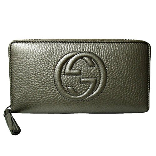 Gucci Soho Soho Metallic Zipper Wallet for Women Purse 308004 Ah90r 9640