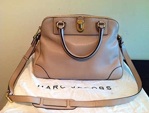 Marc By Marc Jacobs Leather Beige Gold Satchel Bag New