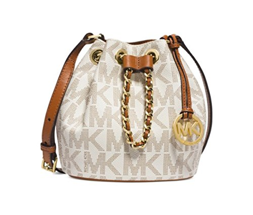 MICHAEL Michael Kors Frankie Drawstring Crossbody Bag in Signature Monogram Vanilla